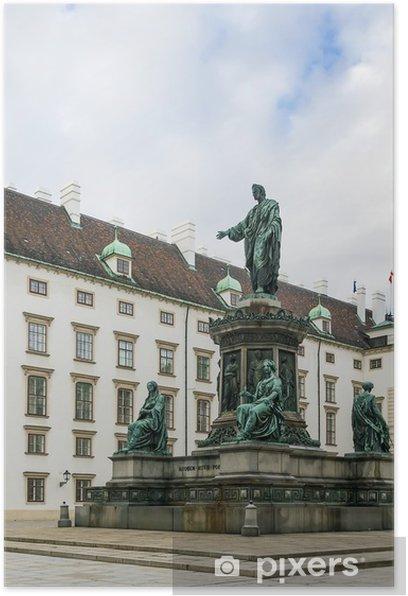 Poster Monument à l'empereur Franz 1, Vienne - Europe