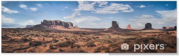 Poster Monument Valley panoramautsikt - Teman