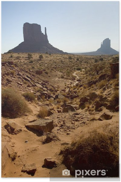 Poster Monument Valley Rock Formations - Vie
