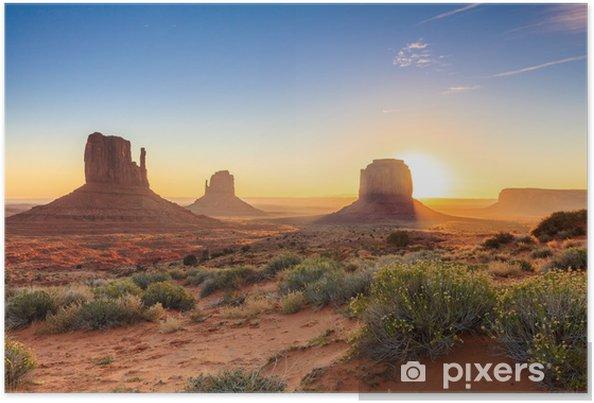 Monument Valley twilight, AZ, USA Poster - Themes