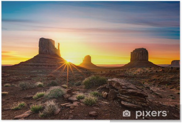 Poster Monument Valley - Amerika