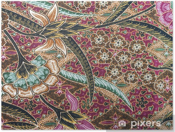 Poster Mooi Batik Patroon - Mode