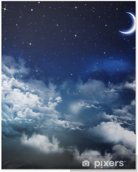 Poster Mooie achtergrond, nachtelijke hemel - Thema's