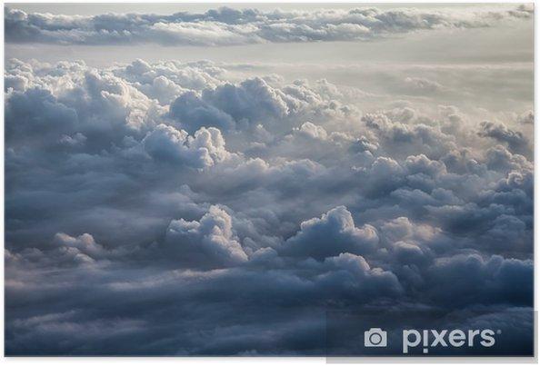 Poster Mooie blauwe hemel achtergrond - Landschappen