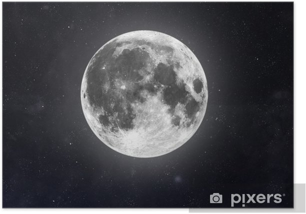 Moon Poster - Outer Space