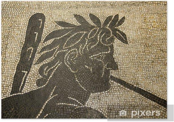 Poster Mosaïque romaine. Vatican. II siècle après JC. - Bâtiments publics