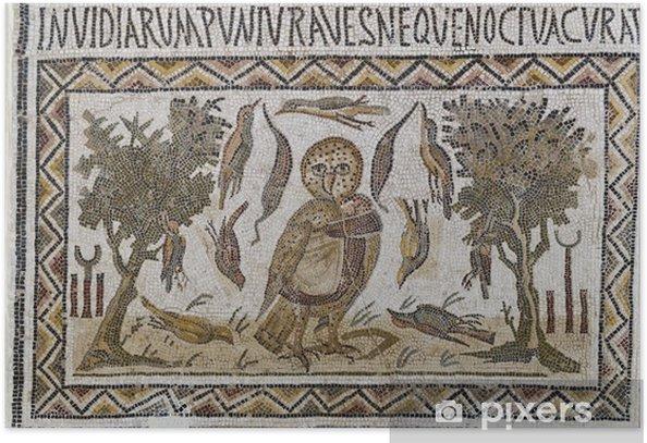 Poster Mosaïques romaines - Maisons et jardins
