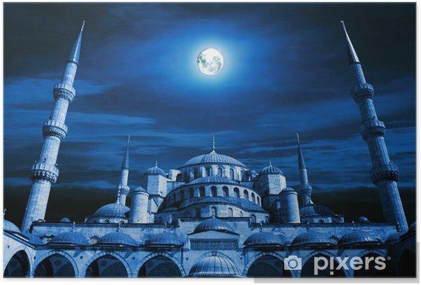 Poster Moskee art. Islamitische architectuur gebouw - Religie