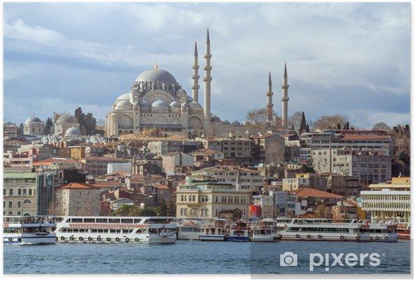 Poster Mosquée de Soliman le Magnifique à Istanbul en Turquie - Moyen Orient