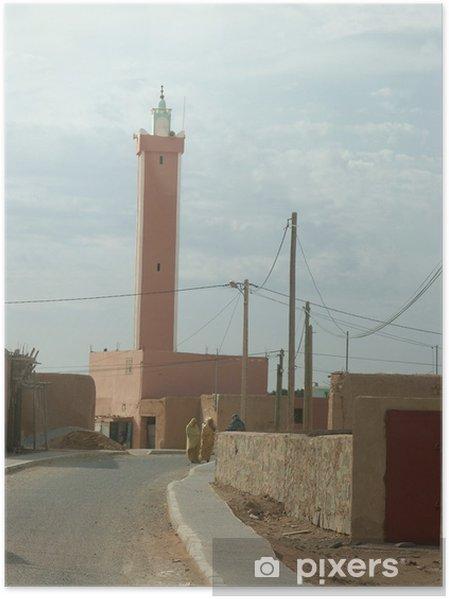 Poster Mosquée du village laksabi - Afrique