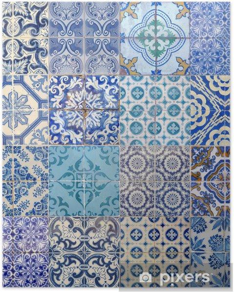 Poster Motieven azujelo bleu - Europese steden