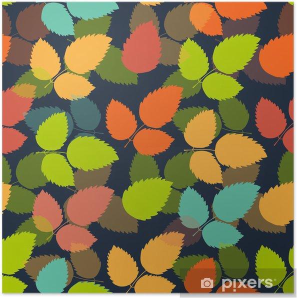 Poster Motif de feuille coloré transparent. Vecteur - Saisons