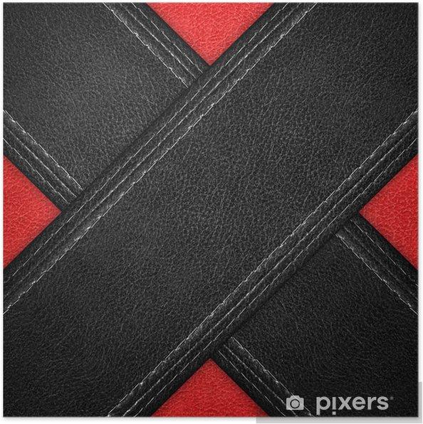 Poster Motif de fond de cuir - Industrie lourde