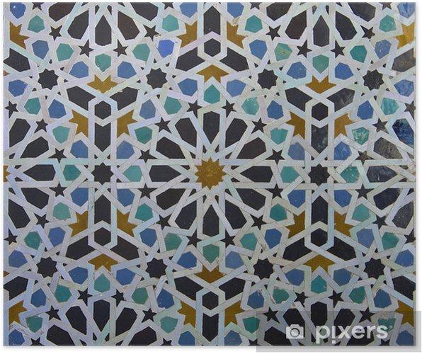 Poster Motif de tuile zellige marocain