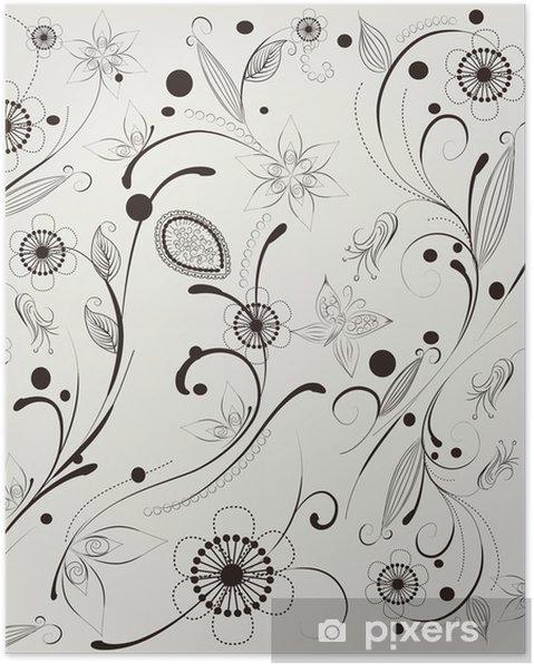 Poster Motif fleur - Arrière plans