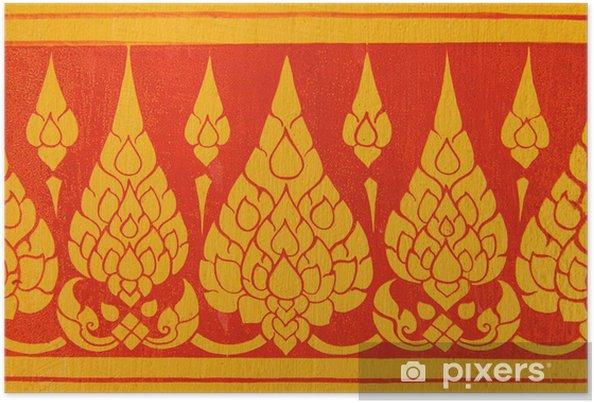 Poster Motif Mur art thaï - Asie
