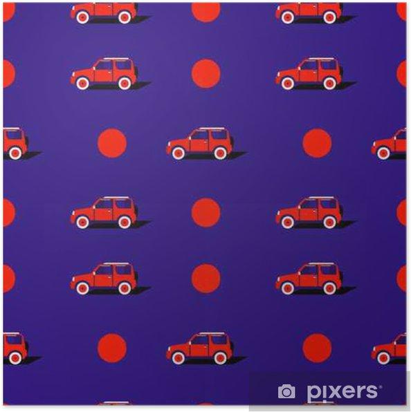 Poster Motif pop art avec la voiture. - Transports