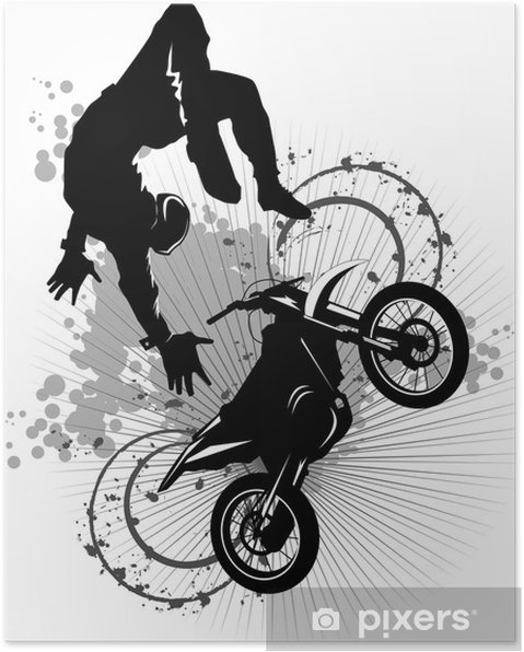 Poster Moto attraction - Sports extrêmes