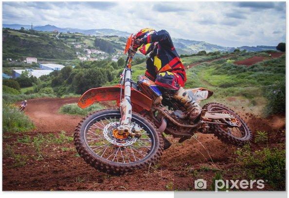 Motocross rider Poster -