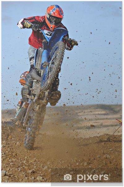 Poster Motorcross wheelie - Wielersport