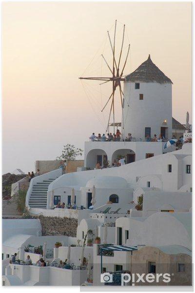 Poster Moulin à vent au coucher du soleil - Monuments