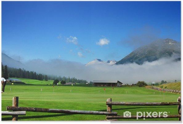 Poster Mountain Golf - Zuoz, Suisse Engadine - Montagne