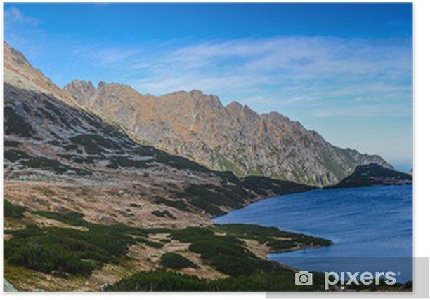 Poster Mountain Valley Cinq Lacs - Tatras vue - Thèmes