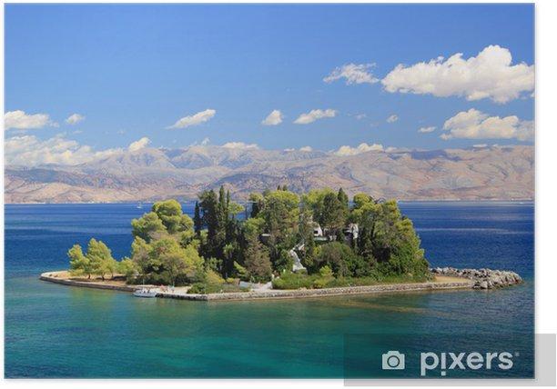 Poster Mouse Island près de Corfou en Grèce - Europe