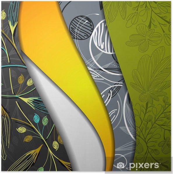 Poster Multicouche fond abstrait - Fleurs
