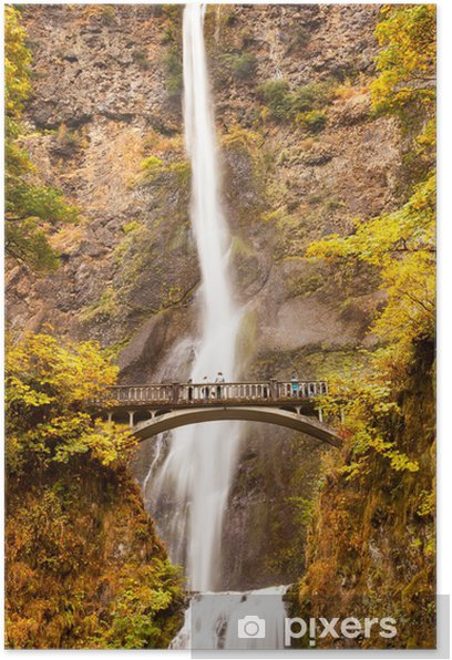 Poster Multnomah cascade fleuve Columbia Gorge Oregon - Merveilles naturelles