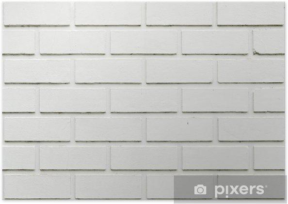 Poster Mur Brique Blanc