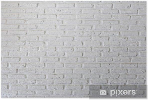 poster mur brique blanc pixers nous vivons pour changer. Black Bedroom Furniture Sets. Home Design Ideas