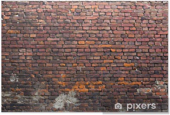 Poster Mur briques anciennes - Thèmes