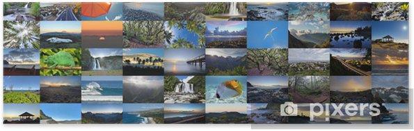 Poster Mur d'images de l'Ile de la Réunion. - Overige