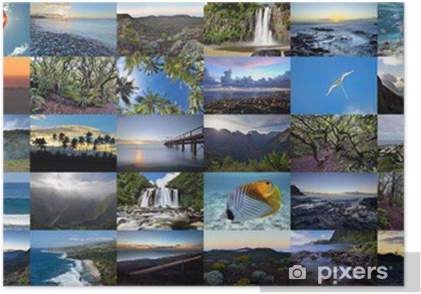 Mur d'images de l'Ile de la Réunion . Poster - Other