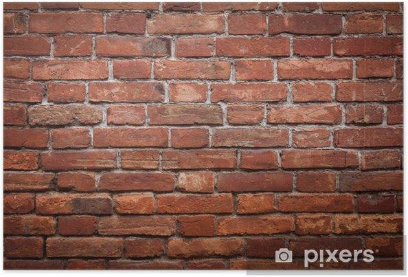 Poster Mur de brique rouge vieux grunge texture - Thèmes