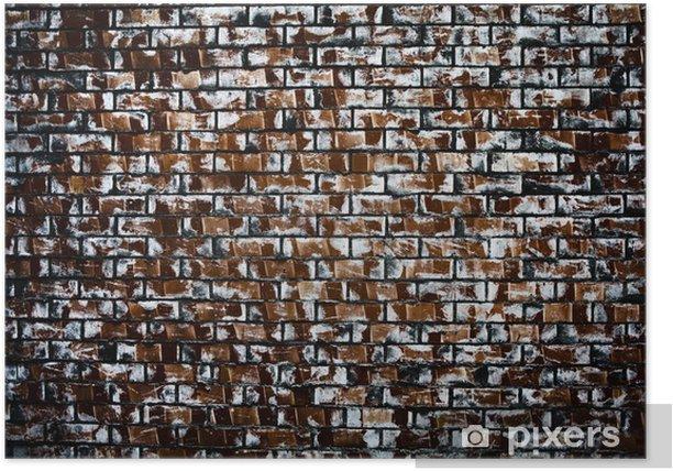 Poster Mur de briques de milieux - Vie