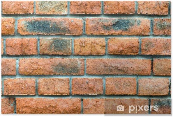 Poster Mur de briques. Fond - Thèmes