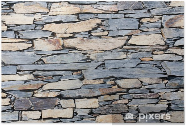 Poster Mur de pierre - Textures