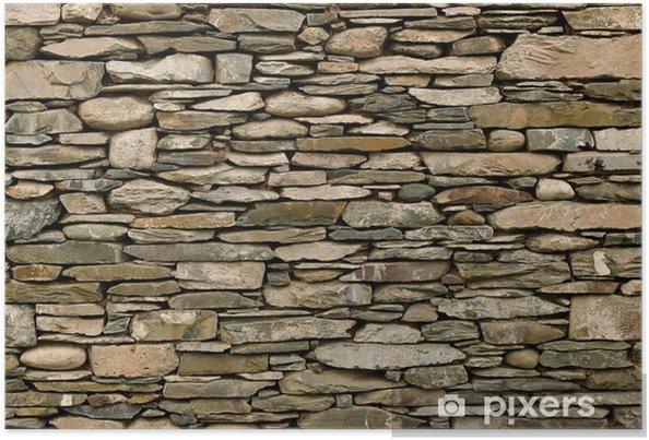 Póster Muro de piedra seca - Estilos