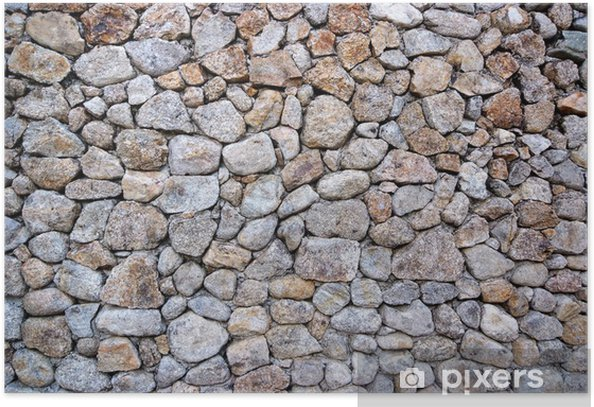 Póster Muro de piedra - Temas