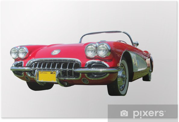 muscle car, corvette Poster - On the Road