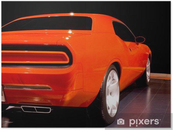 Poster Muscle car l'orange - Sur la route