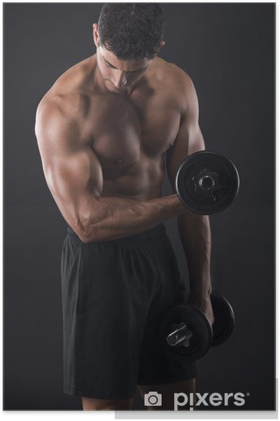 Poster Musculaires haltérophilie homme -