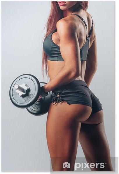 Poster Musculation femme - Santé