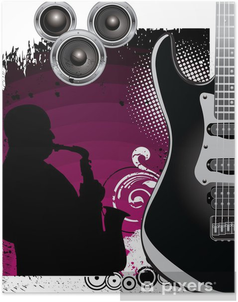 Music background Poster - Themes
