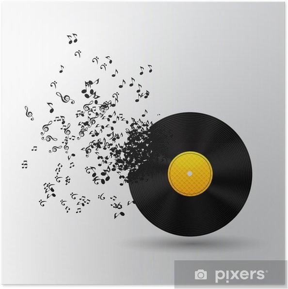 Poster Musique abstraite illustration vectorielle de fond pour votre conception - Signes et symboles
