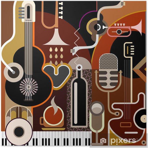 Poster Musique de fond abstrait - Thèmes