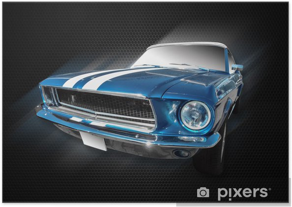 Poster Mustang ford - Sur la route