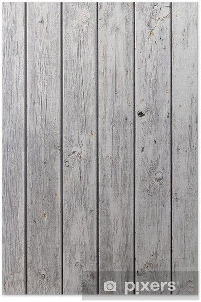 Houten Planken Op De Muur.Poster Muur Houten Planken Wit Geschilderd Grijs Pixers We